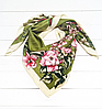 Шелковый платок Люччиа 90*90 см оливковый