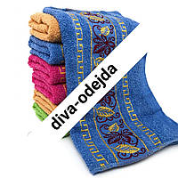 Махровое банное полотенце с красивым принтом.Размер:1,4 x 0,7