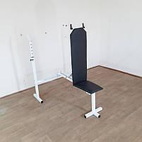 Лавка регульована для жима зі стійками та штанга з гантелями 59 кг, фото 6