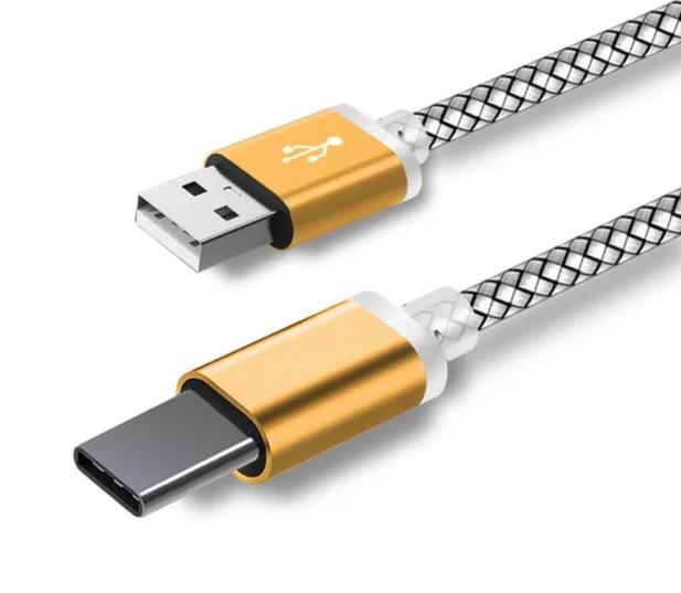 Type C USB кабель для захищених смартфонів Золотий
