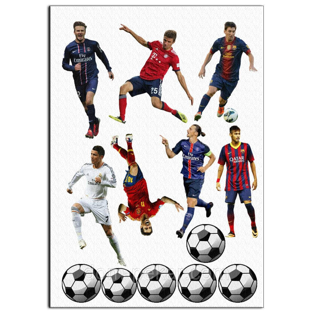 Футболисты вафельная картинка