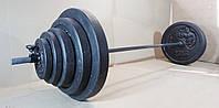 Лавка регульована для жима зі стійками та штанга 85 кг, фото 7