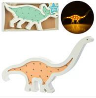 Деревянная игрушка Ночник Динозавр - детский светильник в форме динозавра
