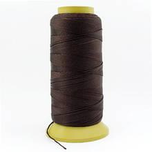 Нить Нейлоновая Швейная в катушках, Цвет: Темно-коричневый, Толщина 0.6мм, около 135м/1катушка, (УТ000007006)