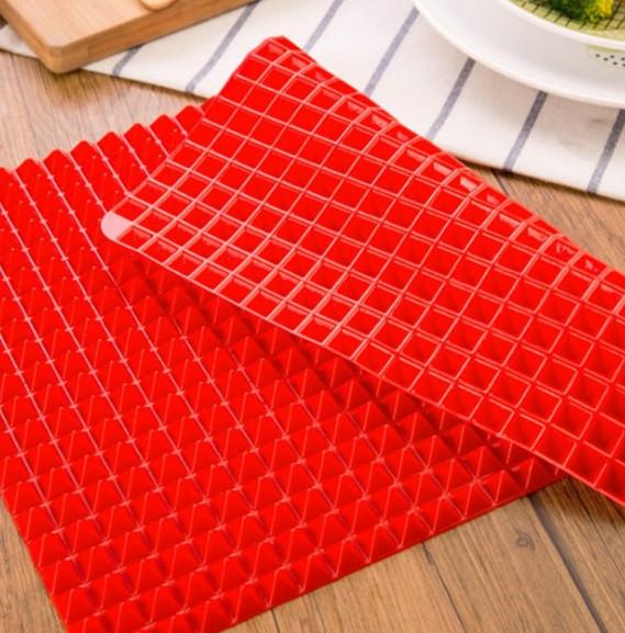 Антипригарный силиконовый коврик для готовки Пирамидка Pyramid Pan-Pro. Антипригарный коврик для гриля