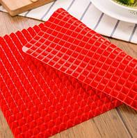 Антипригарный силиконовый коврик для готовки Пирамидка Pyramid Pan-Pro. Антипригарный коврик для гриля, фото 1
