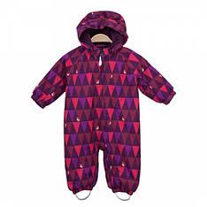 Детский зимний комбинезон для девочки сдельный, мембранный от KolorKids | размеры 74-92р.