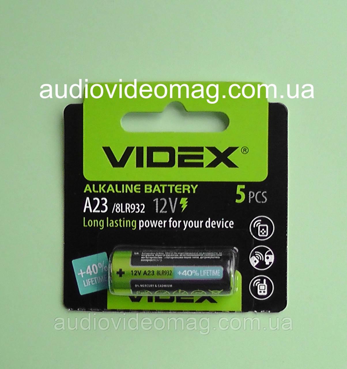 Батарейка Videx 12V А23 Alkaline, щелочная