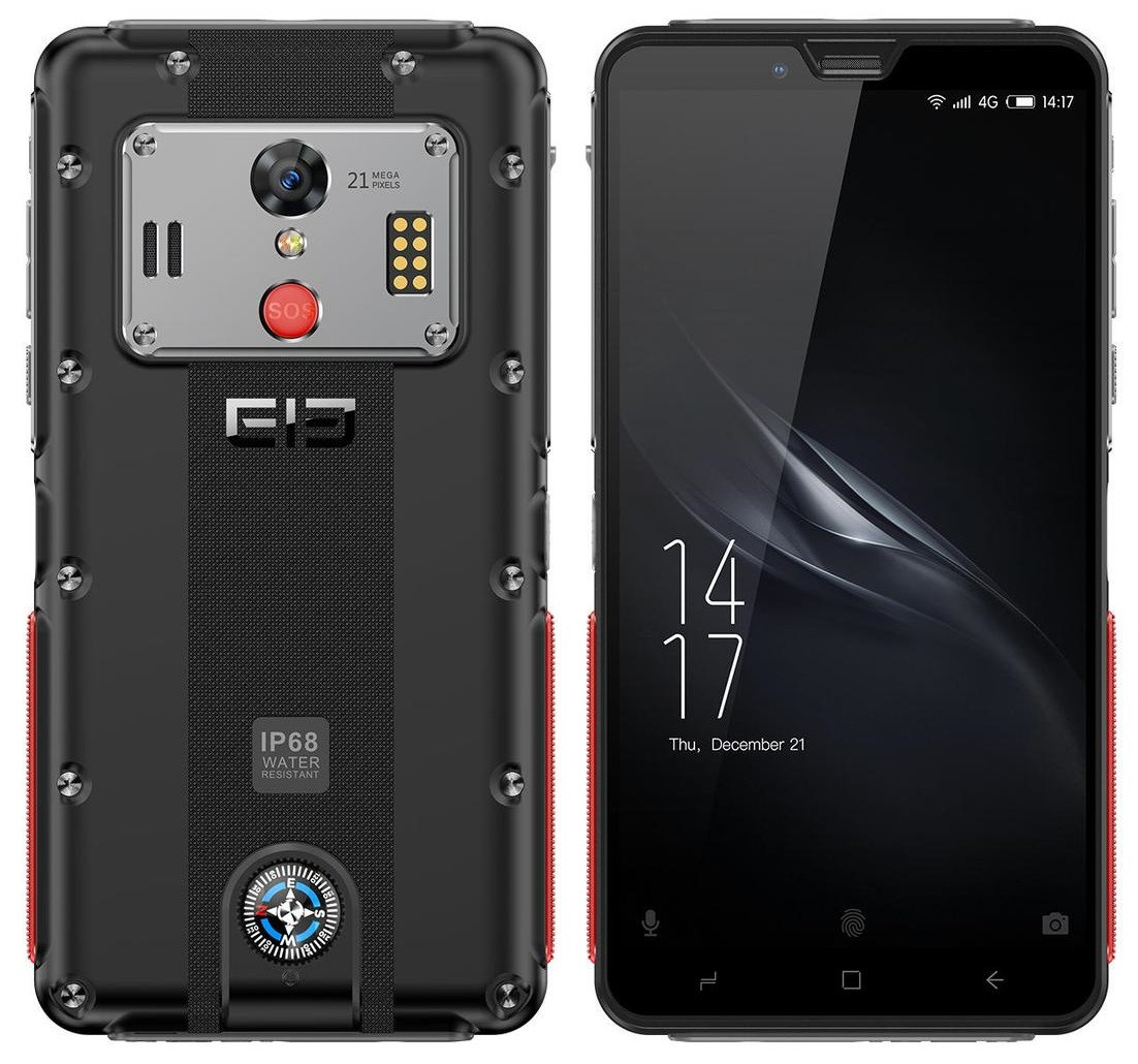 """Смартфон Elephone Soldier 4/128Gb Black, 21/16Мп, 10 ядер, 5.99"""" IPS, NFC, 2sim, 5000мАh, Helio X25, GPS, 4G"""