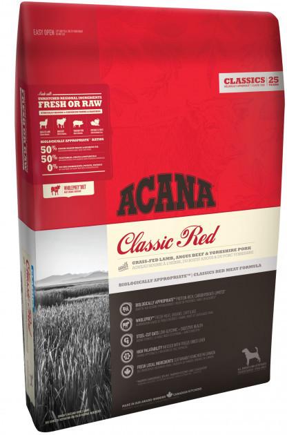 Сухой корм для собак Акана Acana Classic Red ягненок, говядина, свинина 17 кг