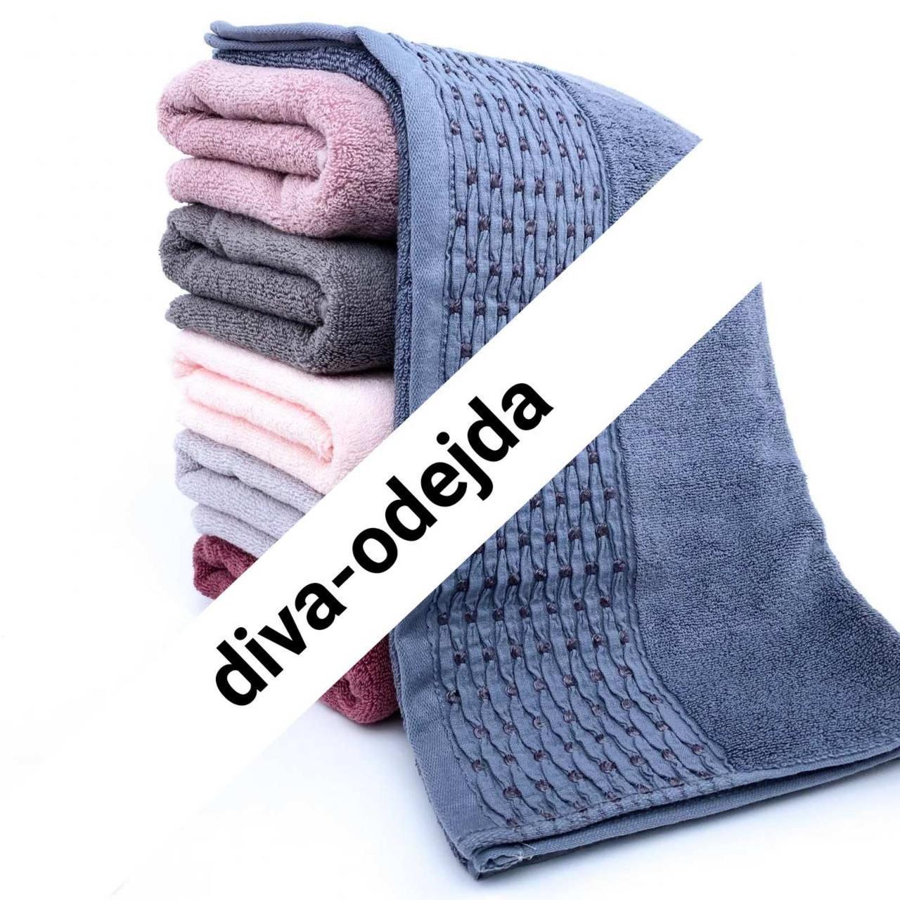 Махровое качественное полотенце нежного цвета.Размер:1,0 x 0,5