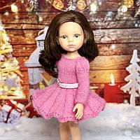 Платье Розочка с рукавом для кукол Паола Рейна