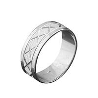 Серебряное обручальное кольцо GS