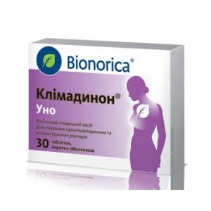 Климадинон Уно устраняет отрицательное воздействие последствий климакса таблетки № 30