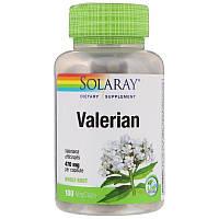 Solaray валериана, 180 капсул по 470 мг, корень валерианы, valerian