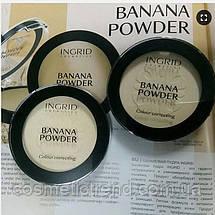 Пудра компактна бананова основа Powder Color Correcting INGRID COSMETICS BANANA POWDER 10 гр, фото 3