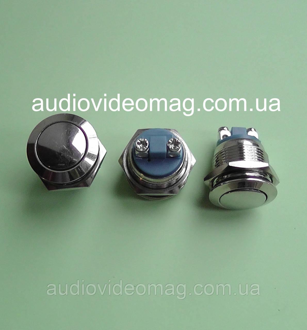 Кнопка антивандальная  220V 2А, Ø 19мм, без фиксации, OFF-ON, двухфазная