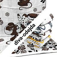Полотенце для лица на льняной основе с мышками.Размер:1,0 x 0,5