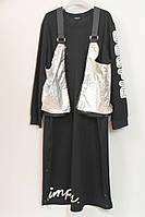 Женское длинное платье с сумкой трансформер Darkwin  (Турция) 52-64р