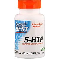 5-HTP, Doctors Best, 60 капсул по 100 мг, гидрокситриптофан, триптофан