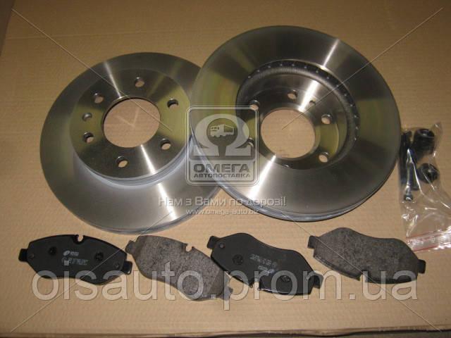Комплект тормозной передн. MB SPRINTER(906) 06-,VW CRAFTER 2.5TDI 06- (пр-во REMSA)