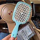 Расческа для волос Janeke 1830 Superbrush The Original Italian Blue Голубая Тиффани, фото 2