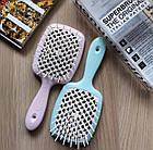 Расческа для волос Janeke 1830 Superbrush The Original Italian Blue Голубая Тиффани, фото 6