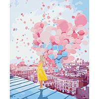 Картина по номерам  На рассвете в Париже/ пленка 40*50   арт. КНО2697