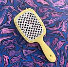 Расческа для волос Janeke 1830 Superbrush The Original Italian Yellow Желто-белая, фото 5