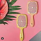 Расческа для волос Janeke 1830 Superbrush The Original Italian Yellow Желто-белая, фото 7