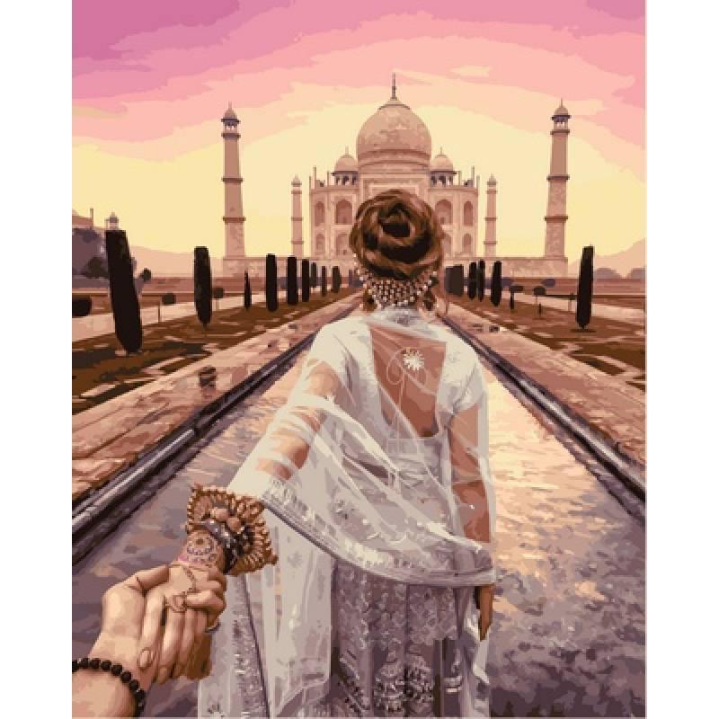 Картина по номерам Следуй за мной Агра, Индия. Худ.Мурад Османн, 40x50 см Babylon Premium