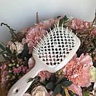Расческа для волос Janeke 1830 Superbrush Original Italian Grey White Серо-белая, фото 2