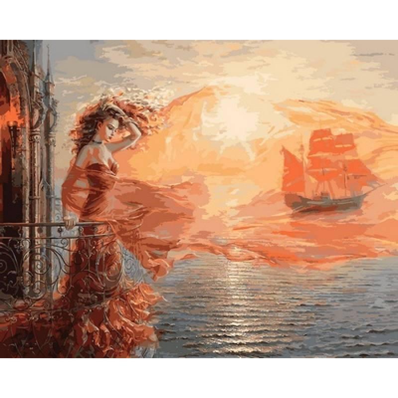 Картина по номерам Ассоль, 40x50 см., Babylon Premium
