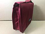Органайзер косметичкаTravel wash bag  / бордовый, фото 4
