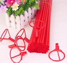 Палочка для воздушных шариков, 40 см, цвет красный