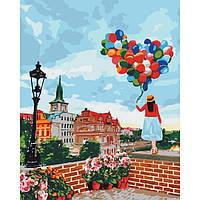 Картина по номерам Гуляя по Праге/ пленка 40*50   арт. КНО3518