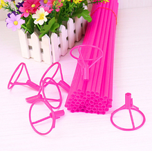 Палочка для воздушных шариков, 40 см, цвет розовый
