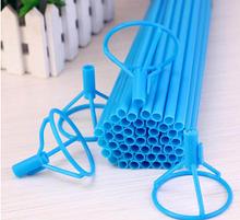 Палочка для воздушных шариков, 40 см, цвет голубой