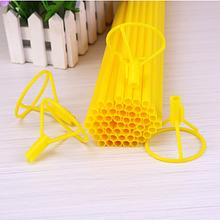 Палочка для воздушных шариков, 40 см, цвет желтый