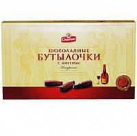 Шоколадные конфеты бутылочки  с ликером Спартак 168г Беларусь