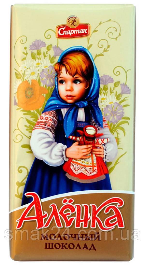 Молочный шоколад  Аленка Спартак 100г Беларусь