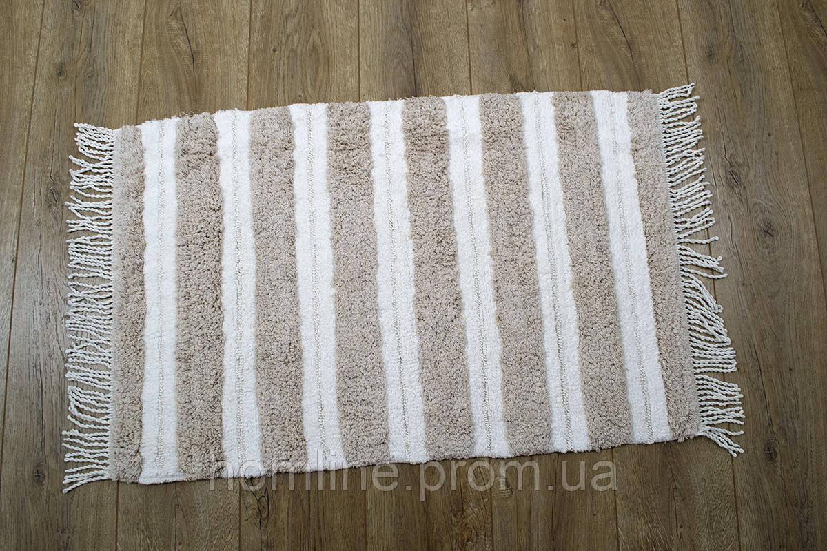 Махровый коврик для ванной Irya Jami bej бежевый 70*110