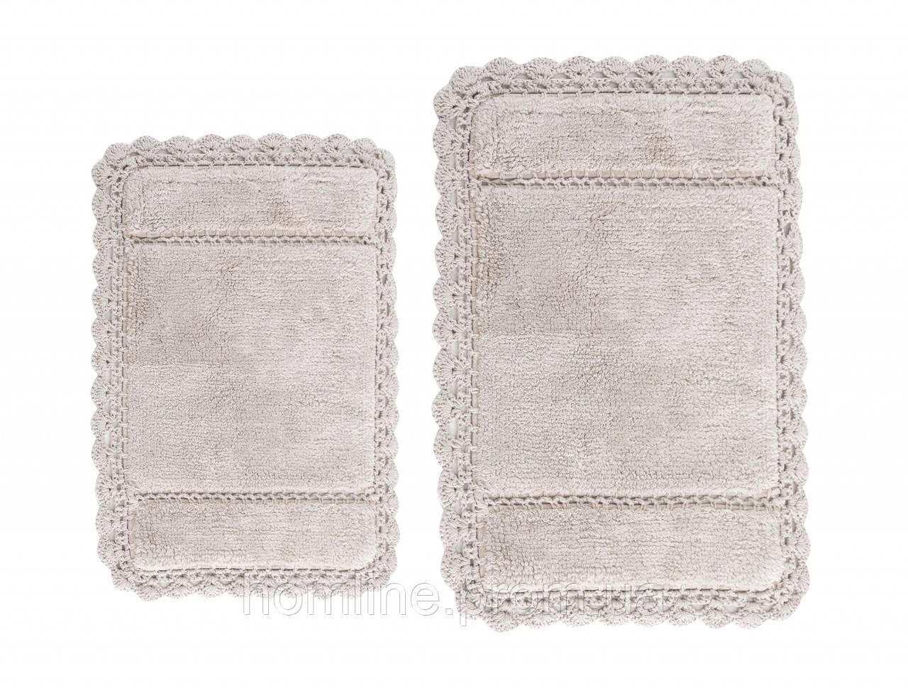Махровый коврик для ванной Irya Lorinda Bej беж 70*110