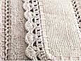 Махровый коврик для ванной Irya Lorinda Bej беж 70*110, фото 2