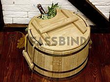 Запарник для веников дубовый 20л Fassbinder™ die authentische Gestaltung, фото 3