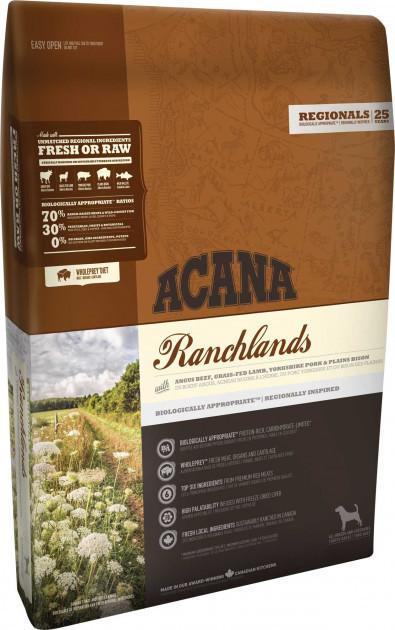 Сухой корм для собак всех возрастов Акана Acana Ranchlands Dog с мясом и рыбой 2 кг