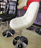 Барный стул B-45 черный искусственная кожа Vetro Mebel, фото 6