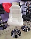 Барный стул B-45 белый искусственная кожа Vetro Mebel, фото 7
