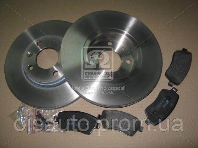 Комплект тормозной передн. NISSAN MICRA 03-,NOTE 06-,RENAULT LOGAN 07-,CLIO III 05- (пр-во REMSA)