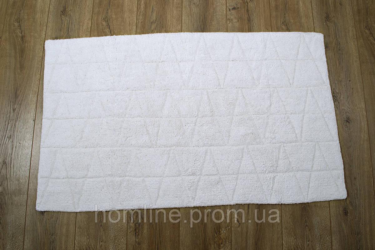 Махровий килимок для ванної Irya Kinsey ekru молочний 70*115